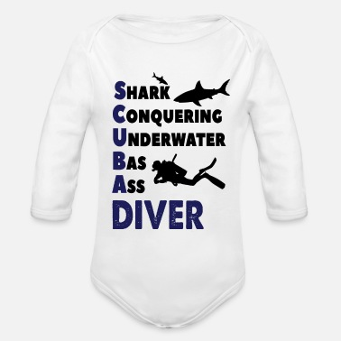 Scuba Scuba Diving - Organic Long-Sleeved Baby Bodysuit