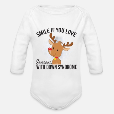 Down With Detroit Smile If You Love Someone With Down Syndrome - Baby Bio Langarmbody