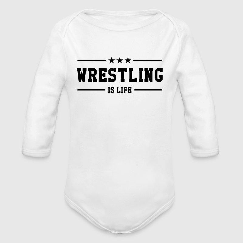 Wrestling is life - Baby Bio-Langarm-Body