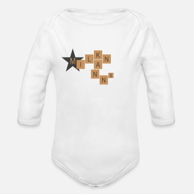 MILAN CANNONS - Organic Long-Sleeved Baby Bodysuit