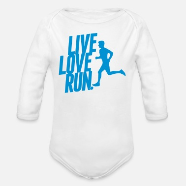 Sprinten Live love run - Organic Long-Sleeved Baby Bodysuit