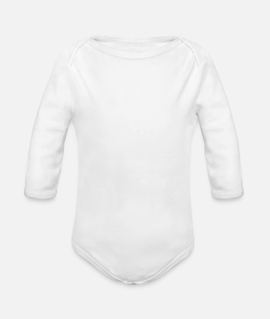 Tennis Baby Bodysuits - Tennis Not Politics - Organic Long-Sleeved Baby Bodysuit white