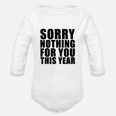 Make A Present No presents - Organic Long-Sleeved Baby Bodysuit