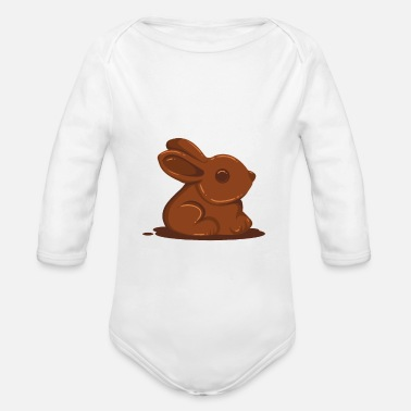 Rush Easter Easter Chocolate - Organic Long-Sleeved Baby Bodysuit