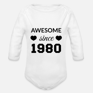 Awesome Since awesome since 1980 - Baby Bio Langarmbody