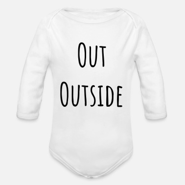 Out Out - Organic Long-Sleeved Baby Bodysuit