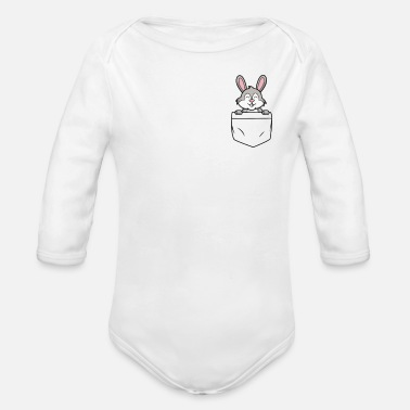 Baby Bunny bag - bunny in my pocket - Organic Long-Sleeved Baby Bodysuit