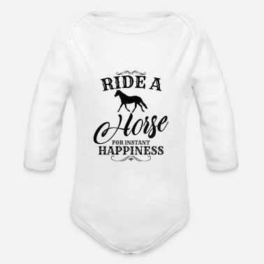 Ride A Horse Ride a horse - Organic Long-Sleeved Baby Bodysuit