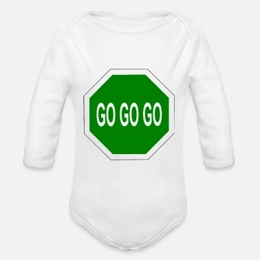Go go go go - Organic Long-Sleeved Baby Bodysuit