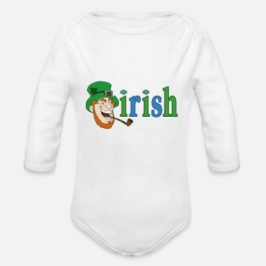 Ireland Irish Leprechaun CSD - Organic Long-Sleeved Baby Bodysuit