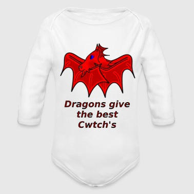 wales dragons give the best cwtch's - Organic Longsleeve Baby Bodysuit