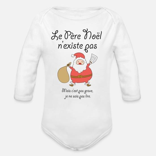 acf81e8f5d184 Humour Vêtements Bébé - Le Père Noël n existe pas - Body Bébé bio manches