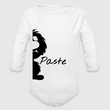 Monster geteilt als Partnershirt - Baby Bio-Langarm-Body
