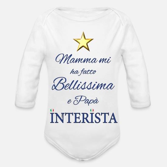 28b8e9ad19 Inter Abbigliamento neonato - La bellissima Interista di Papà - Body a  manica lunga per neonati