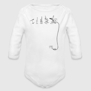 The Evolution of Microscope - Organic Longsleeve Baby Bodysuit