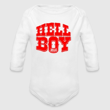 HELL-BOY - Baby Bio-Langarm-Body
