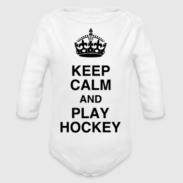 Hockey - Cross - Eishockey - Skater - Ice Hockey - Organic Longsleeve Baby Bodysuit