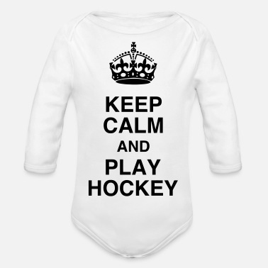 Field Hockey Hockey - Cross - Eishockey - Skater - Ice Hockey - Organic Longsleeve Baby Bodysuit