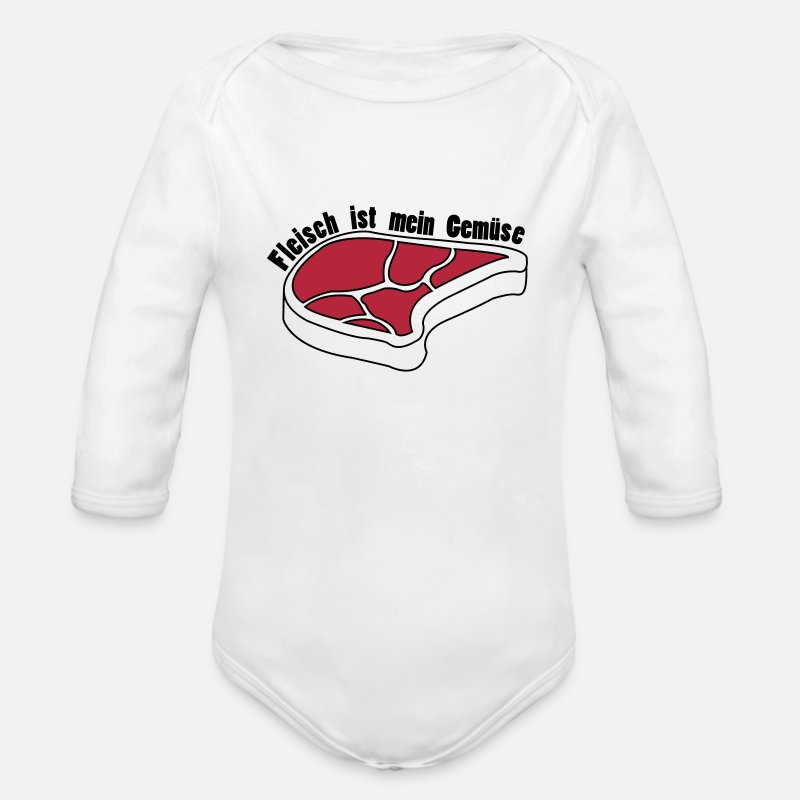 fleisch ist alles was ich brauche baby langarmbody spreadshirt. Black Bedroom Furniture Sets. Home Design Ideas
