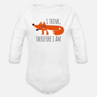 Philosophy Fox Fox claims philosophy geek nerd - Organic Longsleeve Baby Bodysuit
