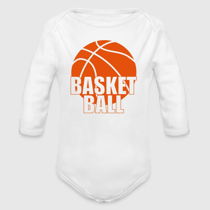 Basketball - Baby Bio-Langarm-Body