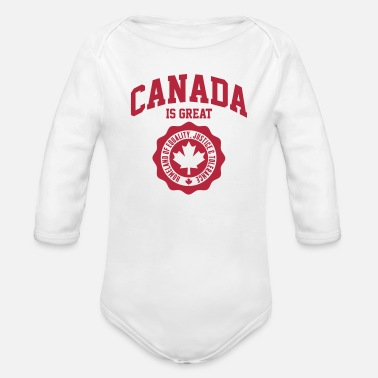 Kanada KANADA, CANADA IS GREAT - Baby Bio-Langarm-Body