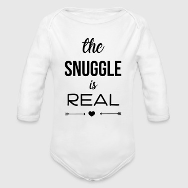 The snuggle is real - Organic Longsleeve Baby Bodysuit