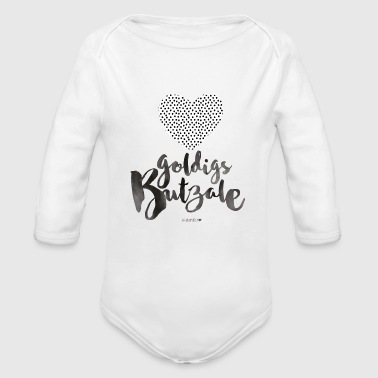 Schwäbisch goldigs Butzale Dotties - Baby Bio-Langarm-Body