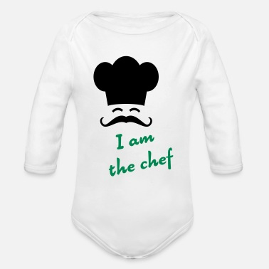 Chef I am the chef - Body ecologico per neonato a manica lunga
