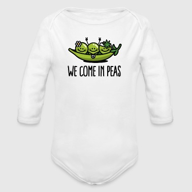 We come in peas / peace - Vauvan pitkähihainen luomu-body
