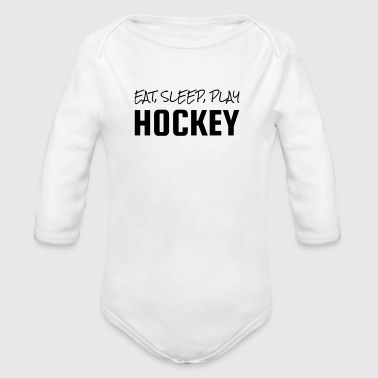 Hockey - Cross - Eishockey - Skater - Ice Hockey - Body bébé bio manches longues