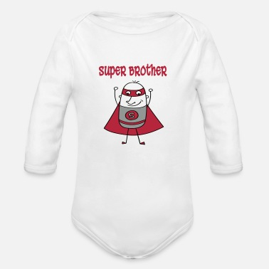 Super Super brother - Organic Longsleeve Baby Bodysuit