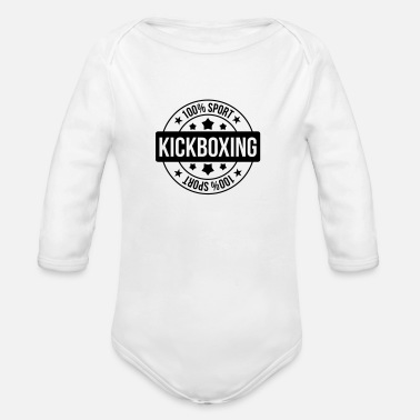 Kick Kickboxing / Kick-Boxeur / Kick Boxing / Kick-Boxing - Body bébé bio manches longues