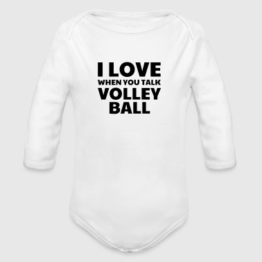 Volleyball - Volley Ball - Volley-Ball - Sport - Ekologisk långärmad babybody