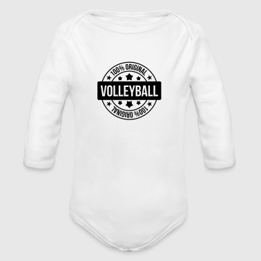 Volley Volleyball - Volley Ball - Sport - Sportsman - Body bébé bio manches longues