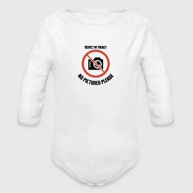 no pictures please - Organic Longsleeve Baby Bodysuit