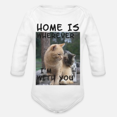 Home is where I´m with you - bananaharvest - Organic Long-Sleeved Baby Bodysuit