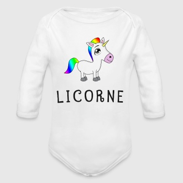 Adulte Licorne unicorne t-shirt sweat enfant adulte - Body bébé bio manches longues