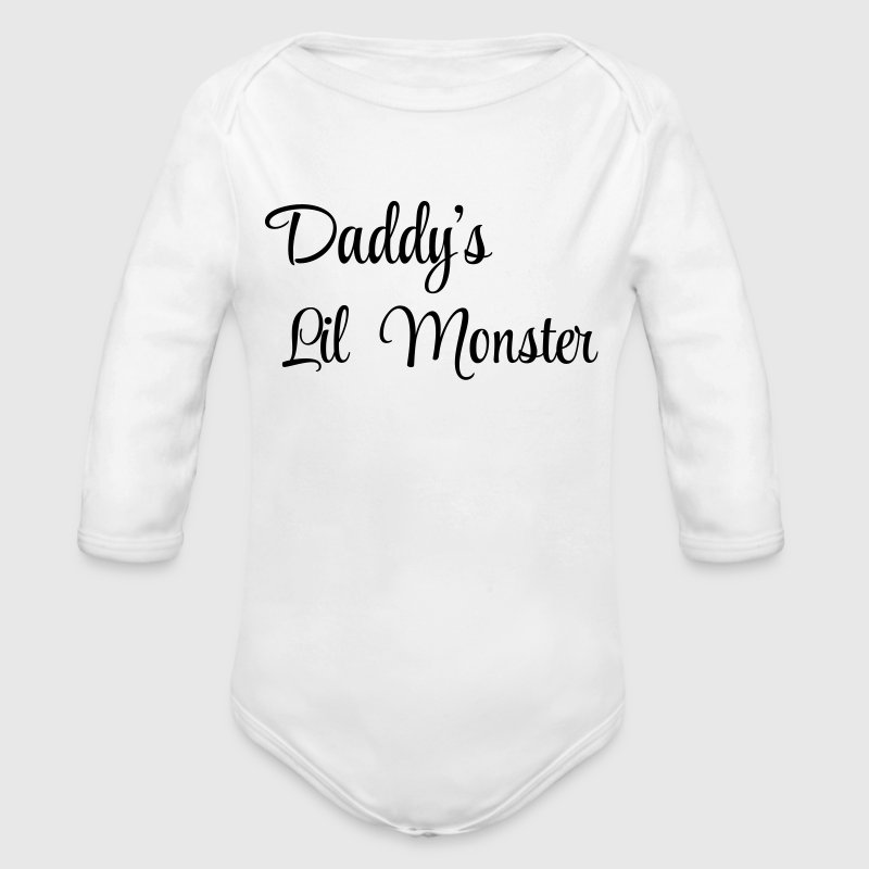 Daddy's little monster - Body bébé bio manches longues