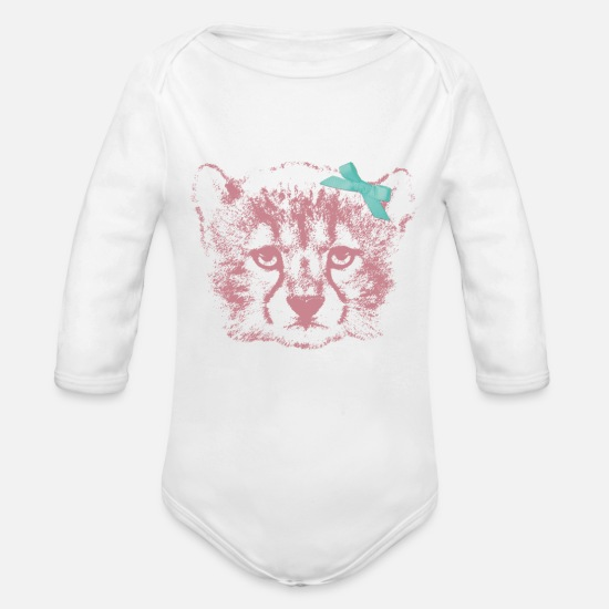 Animal Planet Baby Clothes - Animal Planet Wolf - Organic Long-Sleeved Baby Bodysuit white
