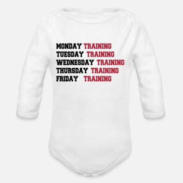 Week Training week - Baby bio-rompertje met lange mouwen