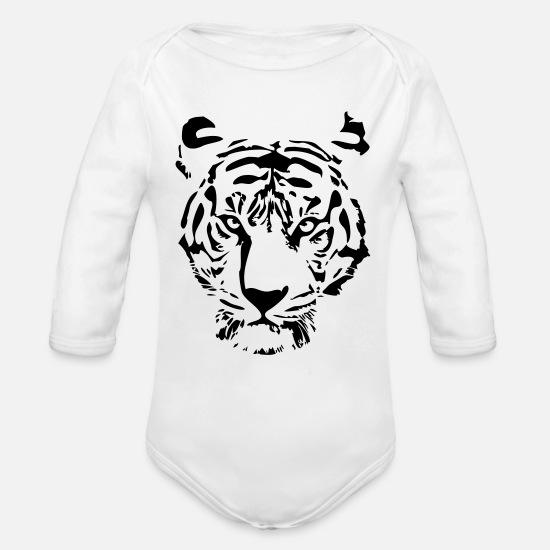 27631ad88 white tiger Organic Long-Sleeved Baby Bodysuit | Spreadshirt