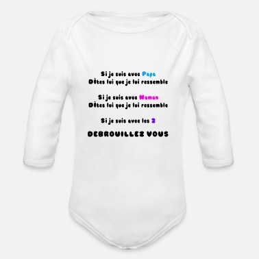 Débrouillez Vous Body Bébé Bio Manches Longues Spreadshirt