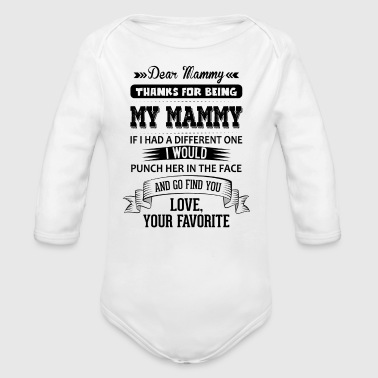 Mammy Dear Mammy, Love, Your Favorite  - Organic Longsleeve Baby Bodysuit