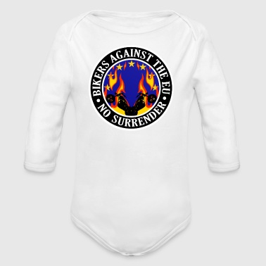Anti EU Bikers Against The EU 001 - Organic Longsleeve Baby Bodysuit