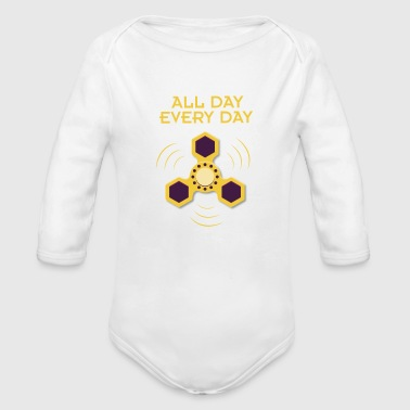 Spinner - all day, every day - Baby Bio-Langarm-Body