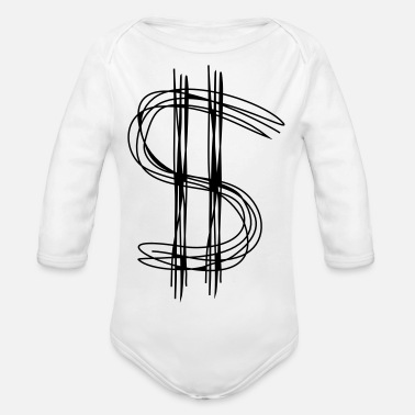 Dollar Sign Dollar sign dollar - Organic Long-Sleeved Baby Bodysuit