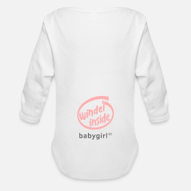 Windel Windel inside Babygirl Body Mädchen-Version, rosa - Baby Bio-Langarm-Body