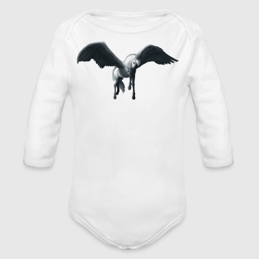 Pegasus Landing - No Background - Organic Longsleeve Baby Bodysuit