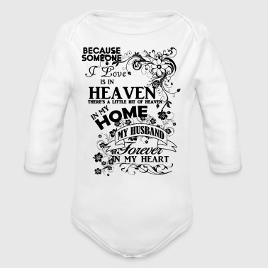 Husband heaven in my home black - Organic Longsleeve Baby Bodysuit